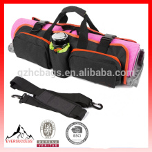 Yoga Mat Tote Bag with Open Ends, Mobile Pocket and Water Bottle Holder