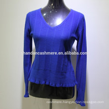2016 New fashion design winter knitted women cashmere sweater from factory
