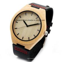 Mejores relojes de madera de bambú del movimiento de Japón para los hombres