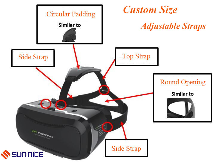 VR glasses headset elastic belt