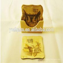Umweltfreundliches bamboo Teetassen-Untersetzerset
