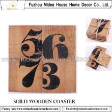 Práctico de costa de madera superior promocional de la taza
