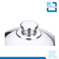Cubierta china popular del alimento del acero inoxidable y cubierta del plato del metal con la bóveda de plata
