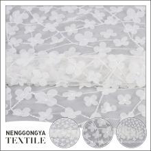 Novo design de malha de tule de malha de poliéster floral chiffon