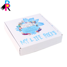 Kundenspezifischer Großhandelsverschiffen-Geschenk-Schuh-gewölbter Farbdruckpapier-Kasten