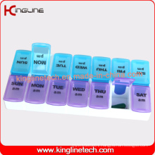 Any Color Plastic Pill Box with 14-Cases (KL-9029)
