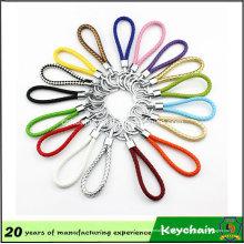 Colores de Weave Leather Keychain