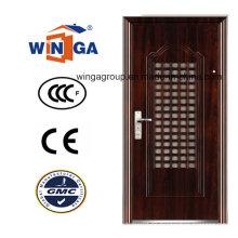 Gute Preis-Qualität Einzelnes Doorleaf Sicherheit Stahl Tür (WS-129)