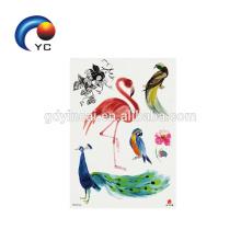 Etiqueta engomada animal del tatuaje del flamenco del precio de fábrica con la fuente de pintura razonable del cuerpo del precio