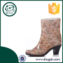 colorful high heel rain boots plastic work boots B-812