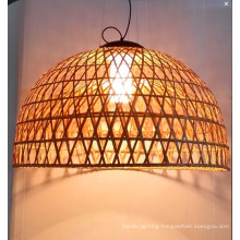 Country Style Natural Rattan Indoor Pendant Lamp