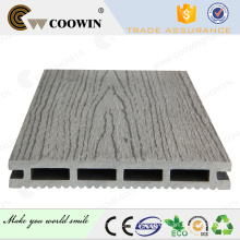 Light grey Wood Grain Embossed WPC Decking Floor for Garden