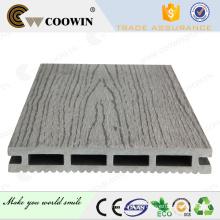 Cinza claro Grain de madeira em relevo WPC Decking Floor para Jardim