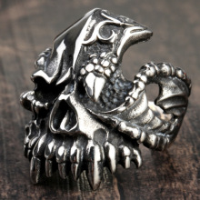 Demon Tooth decay skull finger ring
