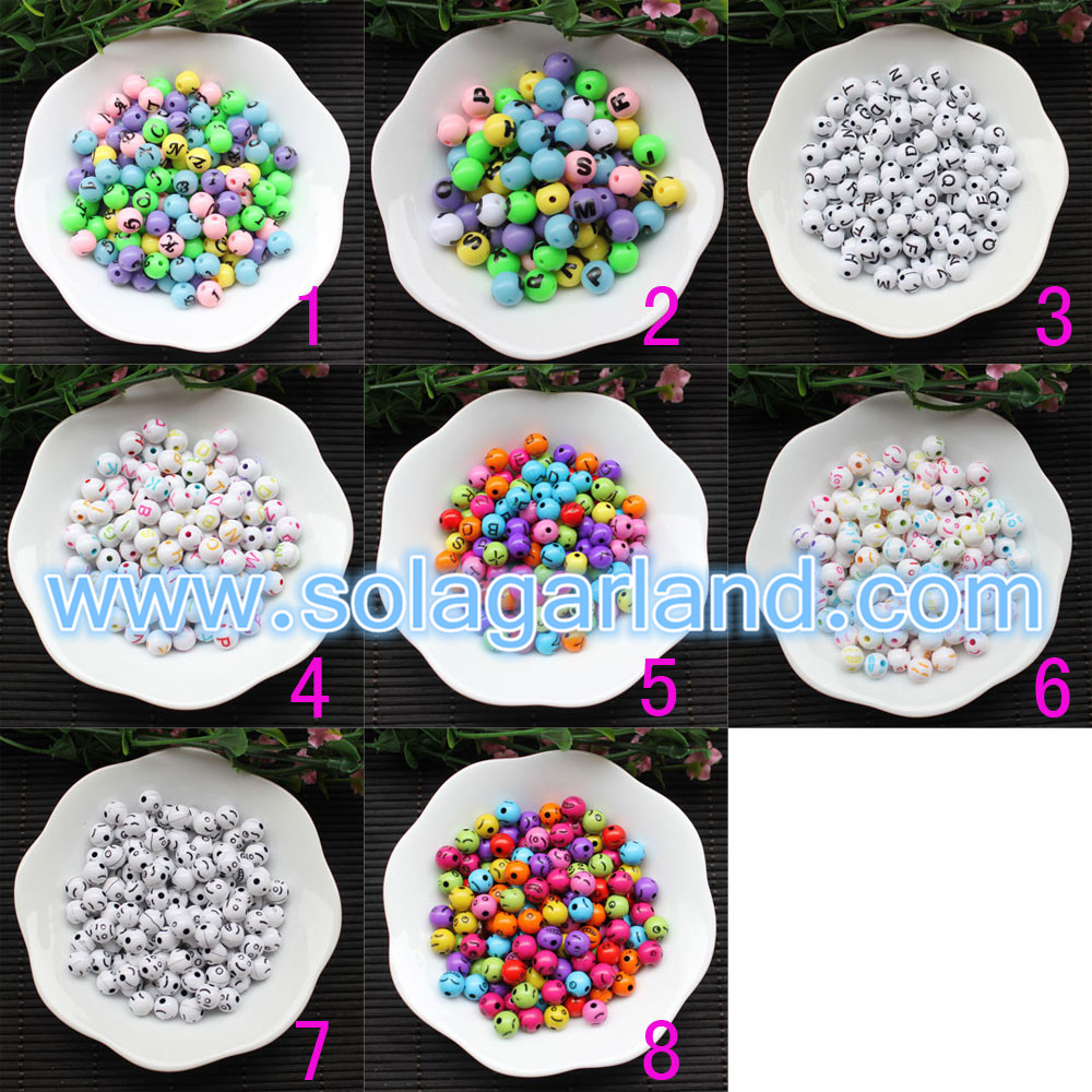 Loose Spacer Smile Face Round Beads
