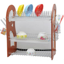 Estante de tazón de metal, estante del recipiente del tazón de fuente del tazón de fuente, accesorio de la cocina, secador del plato