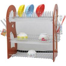Estante de tigela de metal, suporte de tigela prateleira de tigela, acessório de cozinha, secador de pratos