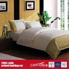 100% Baumwolle 200TC Satin gedruckt Bettwäsche Set Lieferungen für Hotels