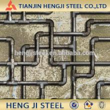 Tubo de acero galvanizado caliente para calentarse; Flujo de baja presión