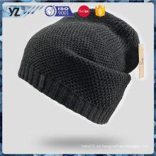 Sombrero de acrílico del knit de las mujeres del precio bajo de la venta de la fábrica para la promoción