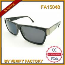 Óculos de acetato polarizada na moda por atacado de China com Deco Metal