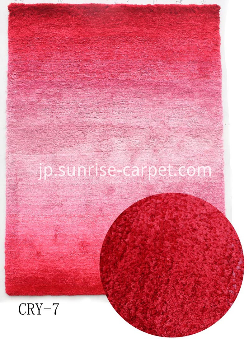 Microfiber Shaggy rug in gradational color