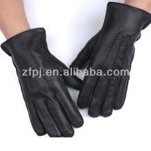 cool man model wearing deerskin glove