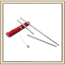 Folding Stainless Steel Chopsticks with Toothpick (CL1Y-CS202)