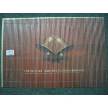 (BC-M1028) Handmade Natural Bamboo Rectangle Heat Insulation Placemat