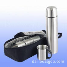 Five-piece Travel Mug Set with 600D Tri-layer Pouch