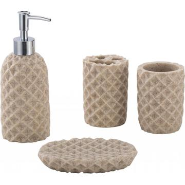 water chestnut Bathroom Accessory Set 4-piece