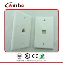 China suppliers 1/2/4 Port wall plate cat 6 Cat 5 Steel RJ45 Faceplate for Network Cables