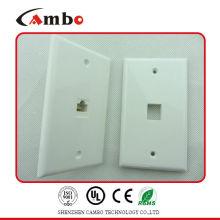 Поставщики Китая 1/2/4 Настенная плита порта Cat 6 Cat 5 Стальная панель RJ45 для сетевых кабелей