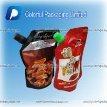 Personnalisé tenez le sac en plastique plus frais de vin, sacs liquides, sacs de bec