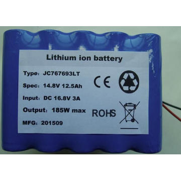 14.8V 12.5AH custom  battery packs