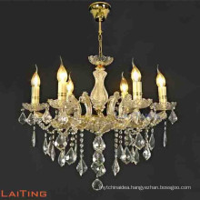 6 arms wrought iron candle chandelier light fixture for dining room 85154