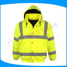 Ansi classe 2 jaquetas de segurança à prova d'água americanas com capuz