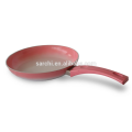 Aluminium fry pan colour will change when temperature high