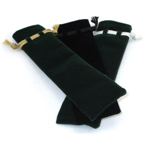Black velvet packaging pen pouch bag from China