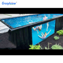 Mobile prefab container house swimming pool