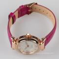 purple fashion quartz japan movement watch lady, quality wristband watch