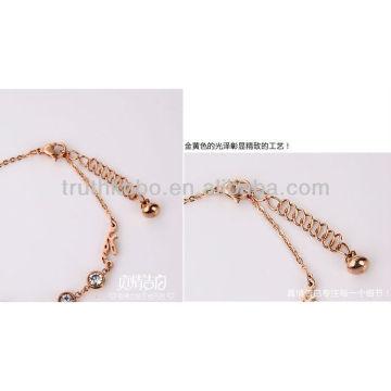 Nueva joyería de las pulseras del acero inoxidable de la moda 2013 con Zircon