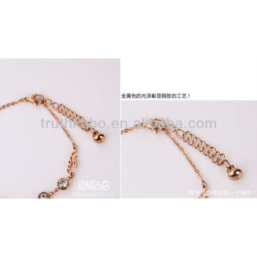 2013 nouveaux bijoux de bracelets d'acier inoxydable de mode avec Zircon
