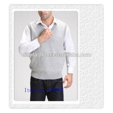 Roupas de cashmere de malha mais recentes de colete para colete para homens