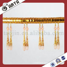 Double Beaded Tassel Trim Fringe for Acrylic Curtain Accessory Home Textile