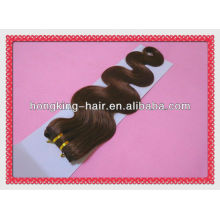 18-Zoll-braune Farbe Körperwelle 100% brasilianische menschliche Haarwebart