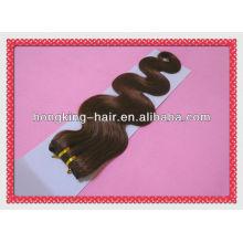 Onda marrom do corpo da cor de 18 polegadas 100% tecer brasileiro do cabelo humano