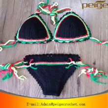 hot sale Fashion Women Sexy Crochet Bikini handmade Knit Swimwear