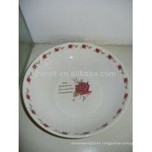 Caliente vendiendo el tamaño variable Rose romántica romántica y los platos de la etiqueta del círculo de Rose / los platos de la porcelana de los postres