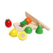 Jouets en bois pour légumes et légumes coupés pour enfants et enfants